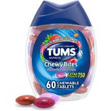 TUMS Chewy Bites Antacid Tablets for Chewable - 60 Count