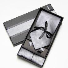 2018 Fashion Wide Tie Sets Men\'s Neck Tie Hankerchiefs Cufflinks 10 colours Box gift polyester handmade