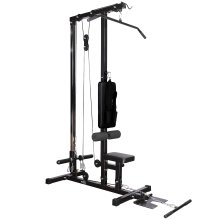 RIP X Stationary Lat Pulldown Machine with Extra Pulley for Seated Rows and Strap for Weighted Ab Crunches