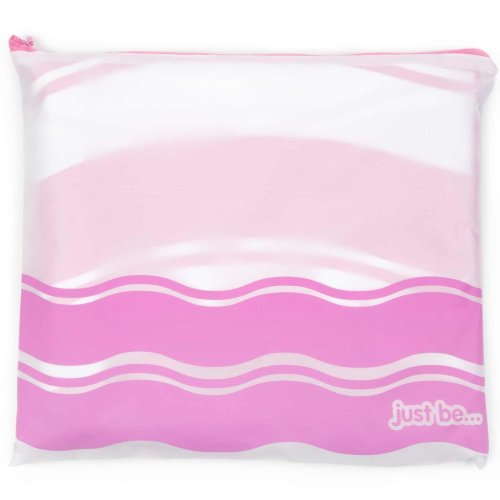 just be... Microfibre Wave Beach Towel - Pink Large 160 x 80cm