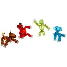 Zing Stikbot 4 x Wide Animal : Panda, Gorilla, Monkey, Horse in Ffp Packaging
