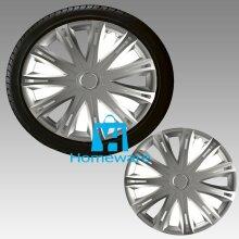 "14"" Wheel Covers Hub Caps 14 Inch Trims Trim Set Of 4 Plastic Trim Spark Silver"