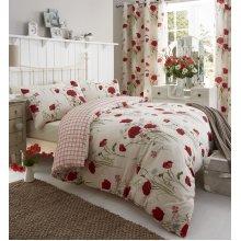 Catherine Lansfield Wild Poppies Easy Care King Duvet Set Multi
