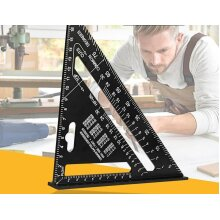 Triangle Ruler Angle Protractor-Speed Metric Square Measuring Ruler For Building Framing Tools