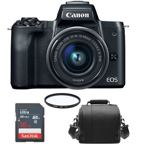 CANON EOS M50 Black KIT EF-M 15-45mm F3.5-6.3 IS STM Black+Camera Bag