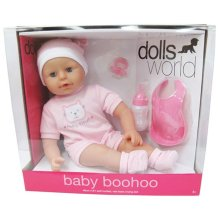 Dolls World Baby BooHoo Doll Pink
