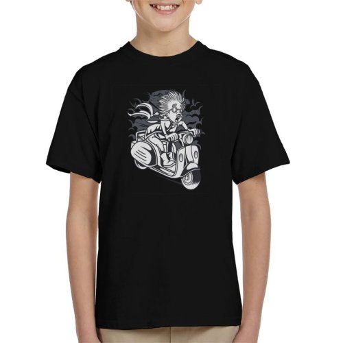 Mad Scientist Scooter Kid's T-Shirt