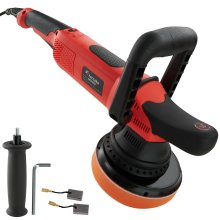 tectake Dual action polisher K7250 - polishing machine, car poloshing kit, buffing machine - 3 pc. set