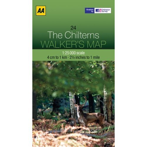 Walkers Map The Chilterns (AA Impressions of Series)