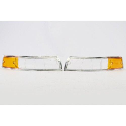Front indicator lenses set chrome rim Porsche 911 67-74