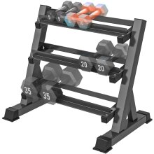 Yoleo 3 Tier Adjustable Dumbbell Rack Stand for Home Gym, Weight Holder for Dumbbells in Different Sizes