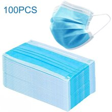 100 x Disposable Face Masks 3 Ply Dental Mask Covering Protection