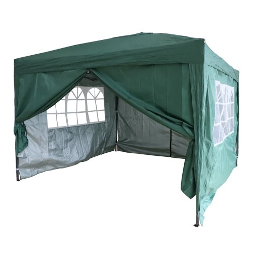 (Green) Birchtree Waterproof Pop Up Gazebo | Garden Party Tent - 3 x 3m