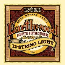 Ernie Ball Earthwood 12-String Light 80/20 Bronze Acoustic Set, .009 - .046