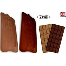 (2 Pack) Break Apart Silicone Chocolate Fondant 48 Moulds Non Sticky UK Seller