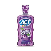 ACT Kids Anti-Cavity Fluoride Rinse Groovy Grape with Fluoride & Exact Dosage Meter, 16.9 Ounce