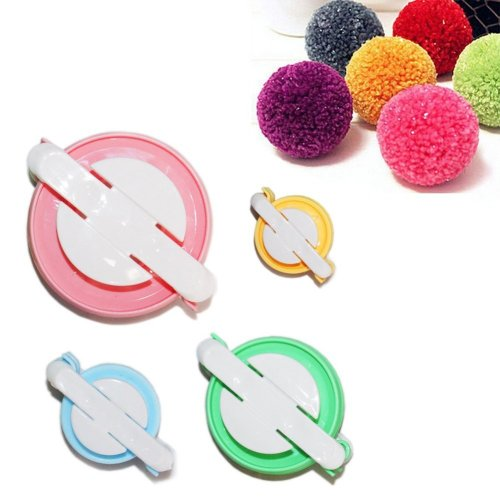 TaleeMall 4 Sizes (small to large) of Pom Pom Maker Set