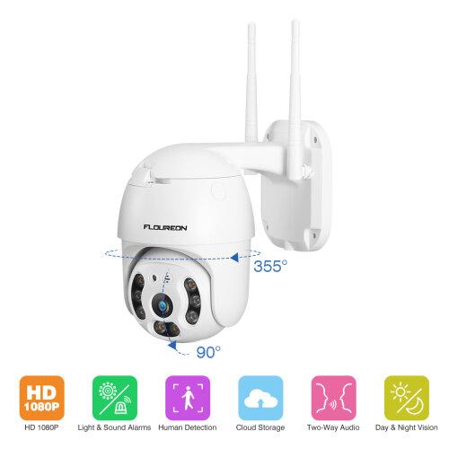 1080P Wireless IP Camera Dual Light PT 2-Way Audio CCTV Security Cam