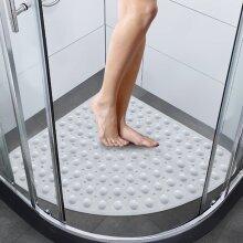 Corner Bath Shower Mat Non Slip Quadrant Sector Anti-Bacterial 54x54cm