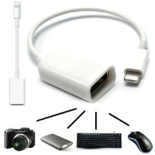 8 Pin OTG Adapter Cable Lightning Male to USB Female Lead For Apple iPhone iPad