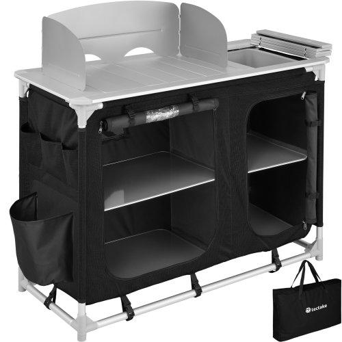 Camping Kitchen 116x52x107cm - black