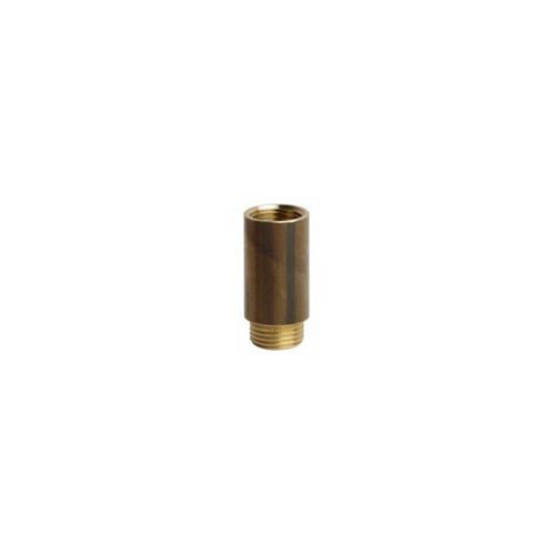 Extension of yellow brass, 3/8 x 1/2