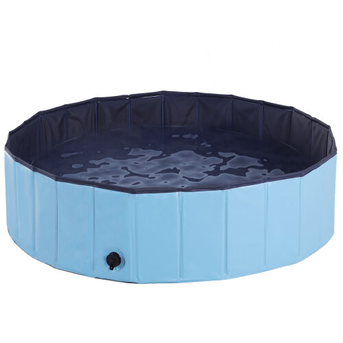 PawHut Pet Pool Swimming Cat Puppy Dog Indoor / Outdoor Foldable Diameter