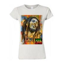 Bob Marley One Love Jamaican ReggaeWomen Tee M793