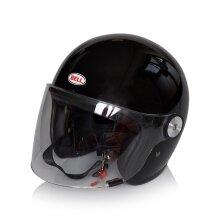 Bell Solid Black 2018 Riot Motorcycle Open Face Helmet - L