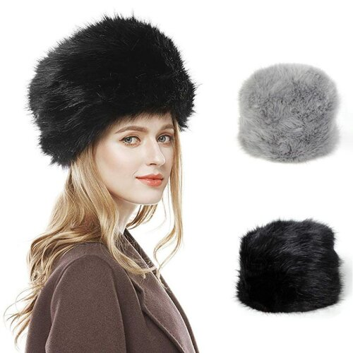 Faux Fur Russian Hat Fluffy Cossack Holiday Hat
