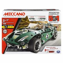 Meccano Roadster Cabriolet | 5 in 1 Meccano Car Set