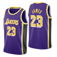 Los Angeles Lakers Lebron James Loose Basketball Jersey Sports Shirts Men's Quick-drying Basketball Uniform Tops
