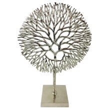 Silver Coral Sculpture