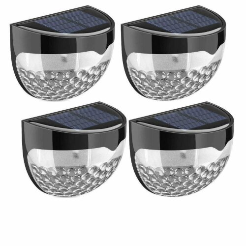 4pk Solar Powered 6 LED SMD Garden Outdoor Fence/Deck/Wall/Stairway Lights G-0152