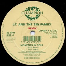 """Moments In Soul (Remix) - J.T. And The Big Family 12"""" - Used"""