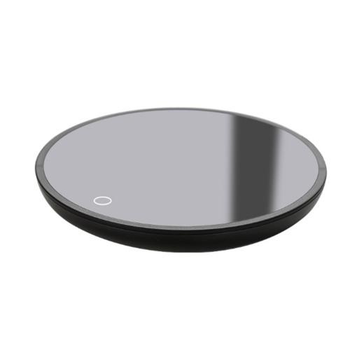 Smart Warm Coaster Electric Heating Tea Warmer Smart Coffee Warmer induction Waterproof Mug Warmer for Office Desk Use-Black