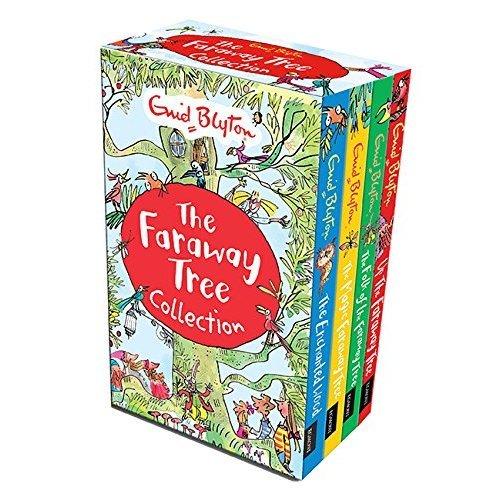 Enid Blyton The Magic Faraway Tree Collection 4 Books Box Set Pack (Up The Faraway Tree, The Magic Faraway Tree, The Folk of the Faraway Tree, The...