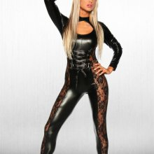 2017 New Sexy Lady\'s Hollow Out Faux Leather Bodysuit Patchwork Lace Jumpsuit Cosplay Game Uniforms Clubwear Dancing Jumpsuit