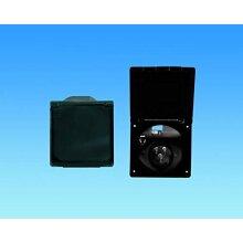 Flush Fit 240V Mains Inlet - Black