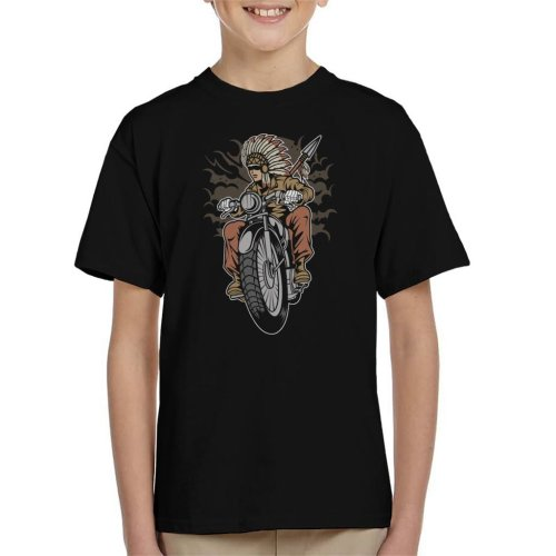 Indian Native Biker Kid's T-Shirt