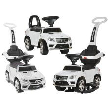 Licensed Mercedes GL63 Multi-Function Foot to Floor Ride on Kids Car White