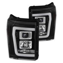 Spyder 5084460 Black LED DRL Bar Projector Headlights for 2011-2016 Ford F-250