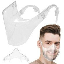Durable Mask Clear Face Shield Combine Plastic Reusable Protection