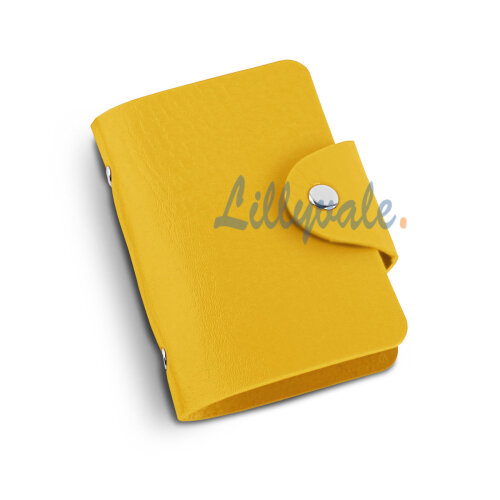 PU Leather Credit ID Business Card Holder- Yellow