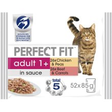 PERFECT FIT Cat Pouches Adult 1+ Mixed Meaty 4x85g (Pack Of 13)