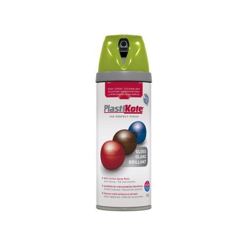 Plasti-kote 21110 400ml Premium Spray Paint Gloss - Apricot Green