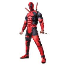 Deadpool Mens Deluxe Fibre Filled Deadpool Costume