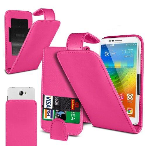 Energizer Energy E241 Pink Clamp Style PU Leather Flip Phone Case