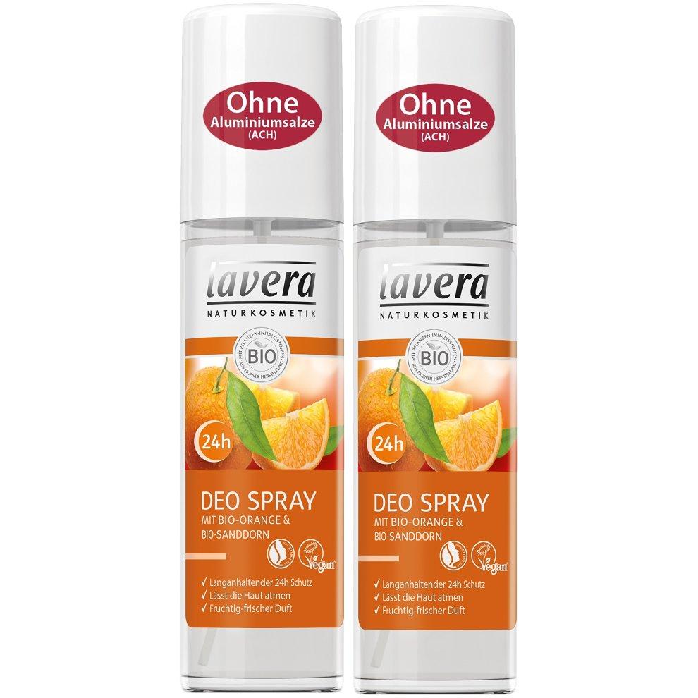 lavera deodorant spray organic orange 24 hours fruity fresh fragrance 24 hours deodorant