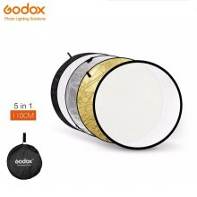 """Godox 5 in1 110cm 43"""" Light Diffuser Round Reflector Disc+Carrying Bag"""